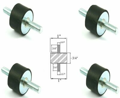 4 Rubber Vibration Isolator Mount 1 Dia X 34 Thk 14-20 X 34 Long Studs