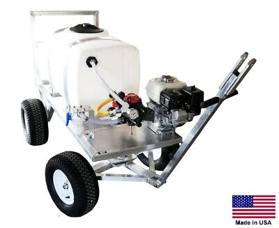 Sprayer Commercial - Trailer Mounted - 6 Gpm - 290 Psi - 50 Gallon Tank