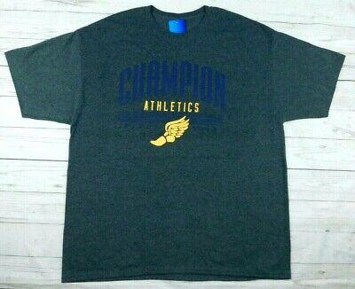 NWT Mens Champion T Shirt Black Champion Athletics since 1919 Size 2XL