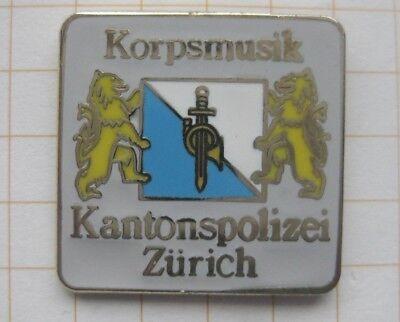 KORPS MUSIK / SCHWEIZ / KANTONSPOLIZEI ZÜRICH ..... Städte&Länder-Pin (130i)
