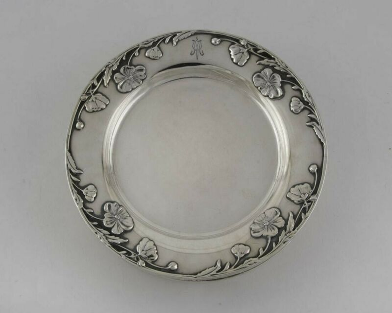 Antique Tiffany & Co. Floral Pattern Bread and Butter Plates 1907-1947 x12
