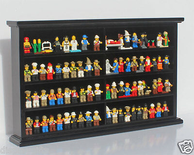 Lego/Minecraft Minifigure Men Display Case Wall Cabinet Stand, LG-MH07-BL