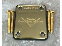 Halsplatte Custom Shop Limited Edition für Telecaster oder Stratocaster in Gold