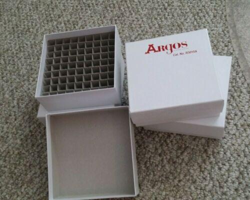 Lot of 4: CryoBox 81-Slot Array Cryogenic 5mL Vial Storage Boxes