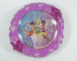 Disney Tinkerbell Wall Clock with 2 Other Fairies Cute Colorful Girls Kids Clock
