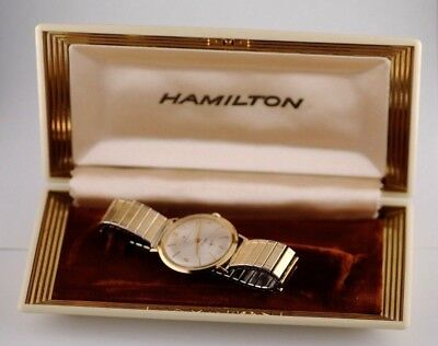 VINTAGE Hamilton 14K  SOLID GOLD CASE BEAUTIFUL Thinline, Swiss