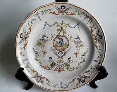 Dekorative Platte Fayence Teller, Italien ca19 Jh,sehr guter Erhaltungszustand.