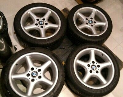 """BMW Z3 E36 alloy wheels Style 18 17"""" inch 7,5 with good premium tyres"""