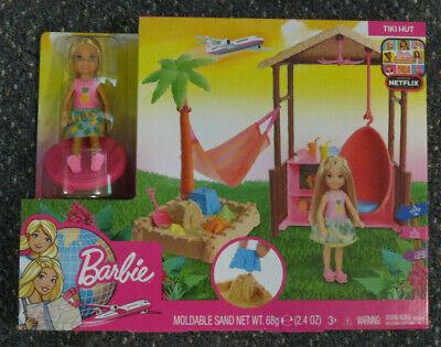 Barbie Dreamhouse Adventures Tiki Hut-Chelsea Doll Playset w/ Moldable Sand NIB