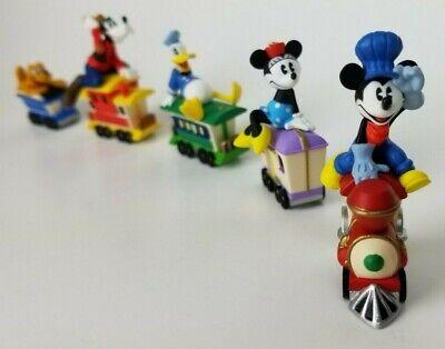 Hallmark 1998 Disney Mickey Mouse Express Miniature Train Ornaments Set of 5