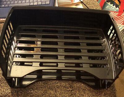 2 Pack Staples Stackable Letter Tray Desk Office Paper Holder Black Plastic