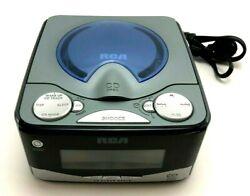 RCA Dual-Wake CD Alarm Clock Radio w/Multi-Color Display RP5610A, Works Great!