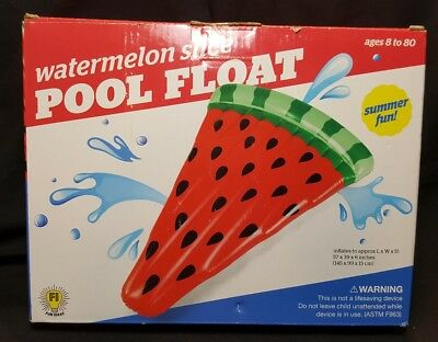 WATERMELON SLICE Pool Float~JUMBO SIZED - Approx 57