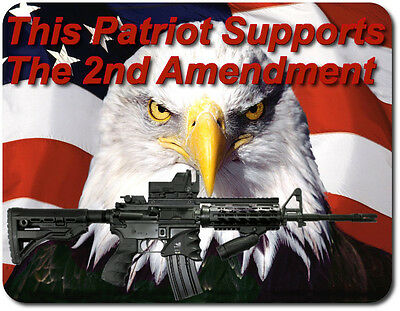 Support The 2nd Amendment For Gun Safe/Man Cave Large Magnetic Sign/Poster