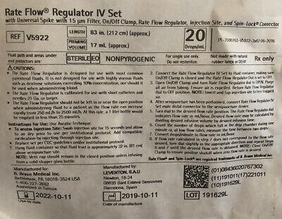 Lot Of 20 Braun Rate Flow Regulator Iv Set Dial-a-flow 83 Line V5922 New