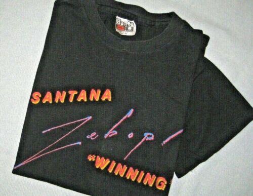 "SANTANA ""ZEBOP-WINNING"" CBS Records Vintage promotional T-Shirt (L) from 1981"