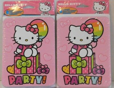 Hello Kitty Birthday Party Invitations - Hello Kitty Birthday Party Invitations TWO Packs of 8 Cards & Thank You Postcard