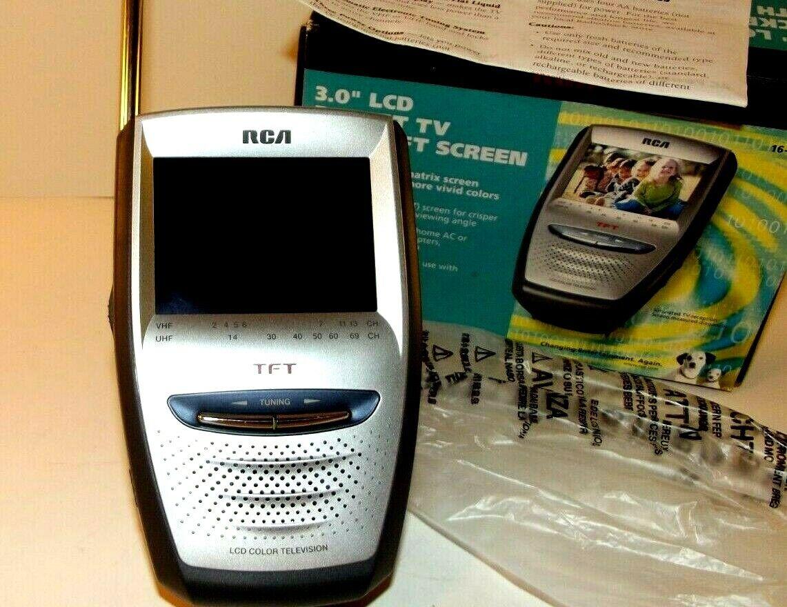 """RCA R C A 3.0"""" LCD Pocket TV Color W/ TFT Screen 16-3062"""