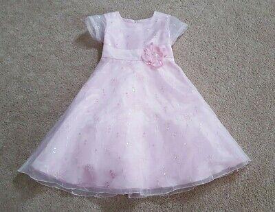 Bonnie Jean Girls Pink Beautiful Party Dress, Size 5