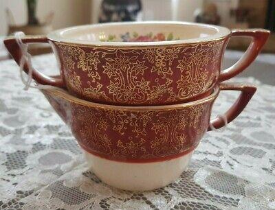 Century by Salem 23 Karat Gold Encrusted 2 Piece Set Creamer & Sugar Bowl  2 Piece Sugar Bowl