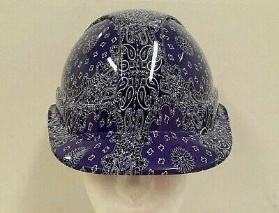 Custom safety hard hat / helmet - Purple bandana - fully BS EN397 compliant](Purple Hard Hat)