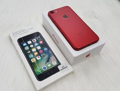 INBOX NEW Apple iPhone 7 - 128GB Produce RED. GLOBAL GSM UNLOCKED. 1 YR WARRANTY