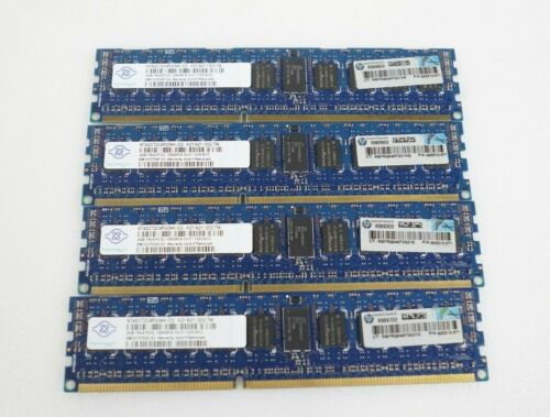 LOT 4x 4GB (16GB) Nanya NT4GC72C4PG0NK-CG PC3L-10600R DIMM Server Memory