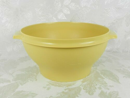 Vtg Tupperware Large Salad Bowl Container 880 Harvest Gold 1 Gallon ~ NO Seal