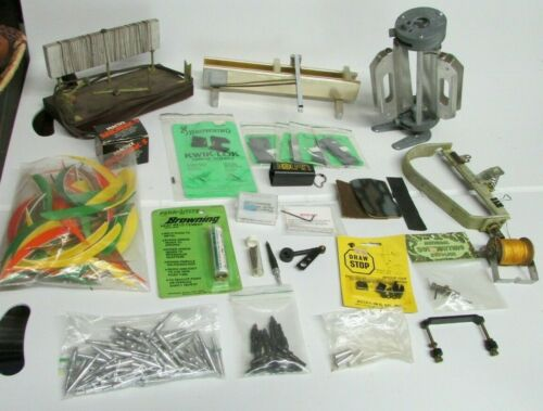 Vintage ARROW MAKING TOOLS Arrow Fletching Jigs & Clamps, Tips, Burner, Scale +
