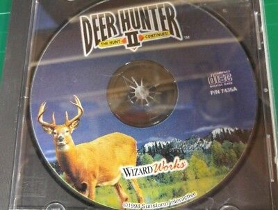 Deer Hunter II: The Hunt Continues WITH JEWEL CASE AND GAME (PC, 1998) (Deer Hunter Ii)