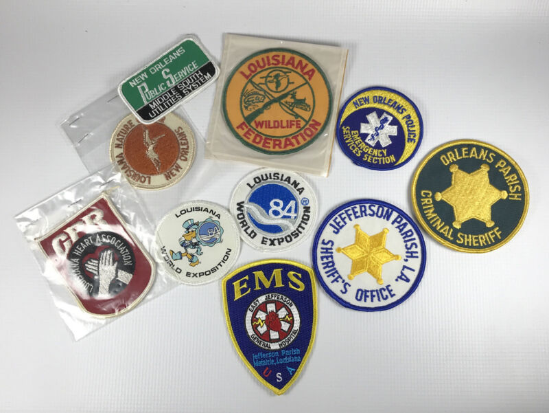 Lot of 10 Vintage Louisiana and New Orleans Related Patches