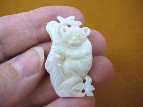 (O-222) little Koala bear 20 carat White Coober Pedy Opal carved I love koalas