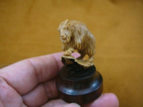 (TB-GOA-4) Billy Mountain Goat shed ANTLER figurine Bali detailed carving goats