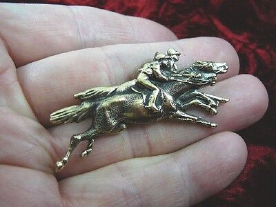 (B-HORSE-251) RACE HORSE derby jockey pin pendant horses bet track races win
