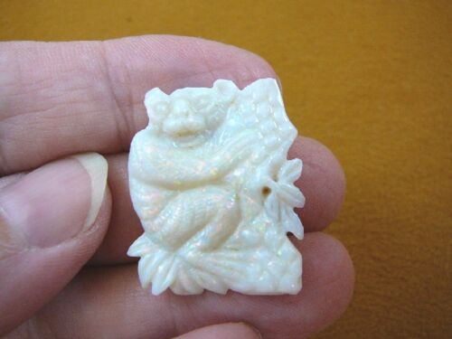 (O-221) little Koala bear 15 carat White Coober Pedy opal carved I love koalas