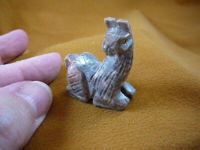 Y-LLA-SI-25) baby gray LLAMA carving SOAPSTONE stone PERU FIGURINE I love llamas