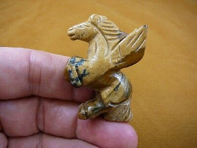 (Y-PEG-RE-551) tan PEGASUS flying wings horse Figurine carving mythical horses