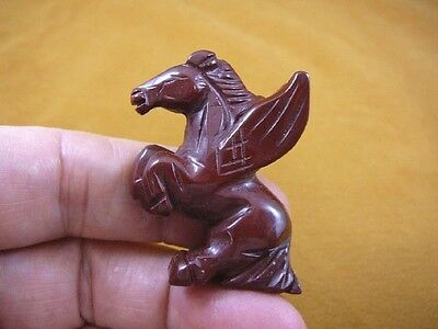 (Y-PEG-RE-553) Red PEGASUS flying wings horse Figurine carving mythical horses