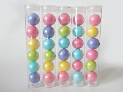 Party Favor Containers (15 Pack Clear Plastic Tubes with Plugs - Candy/Favor Container for)