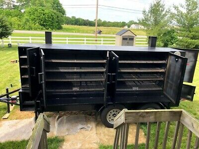 Big Butt 2 Reverse Flow Bbq Smoker Trailer W Sink Rough In And Side Storage