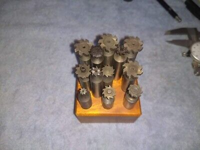 Machinist Woodruff Keyseat Cutters Lot Of 12 Usa Made