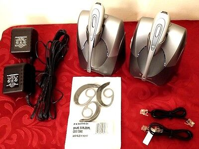 2 LOT PLANTRONICS CS55 TESTED WIRELESS SYSTEM HEADSET EAR LOOPS POWER