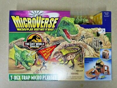 Kenner Microverse Jurassic Park The Lost World T-Rex Trap Micro Playset 55027