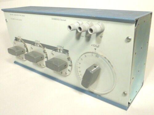 DANBRIDGE  DECADE CAPACITOR  BOX DK4AV - Tested / Working .1uF - .001uF X 100pF