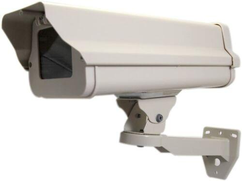STI-7100K CCTV Housing - Aluminum w/ heater, blower, sunshield mounting bracket