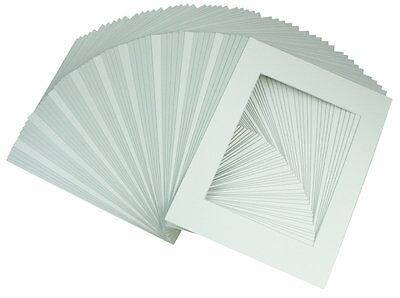 Pack of 50 11x14 White Picture Mats Mattes for 8x10 Photo + Backing + Bags