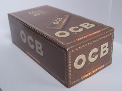 OCB VIRGIN Regular size UNBLEACHED Rolling paper regular size 70mm - 2500 papers ()