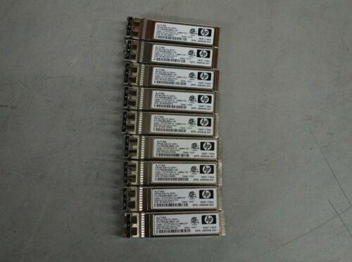 Lot 9x Hp Aj718a 8gb Sw Fiber Channel Fc Sfp+ Transceiver Module