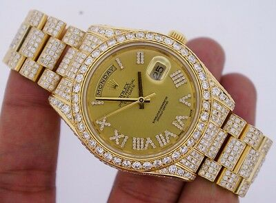 Rolex Day-Date President II 2 218238 Iced Out 19.00 Ct Diamonds Celebrity Style