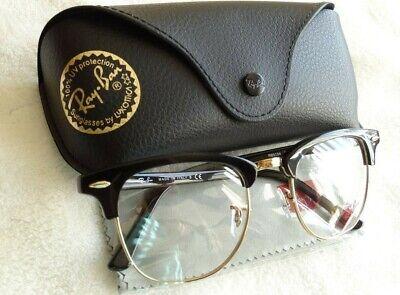 BRAND NEW! RAY-BAN RB 5154 2000 EYEGLASSES FRAME SIZE 51 MM BLACK GOLD (Italia Eyeglasses)